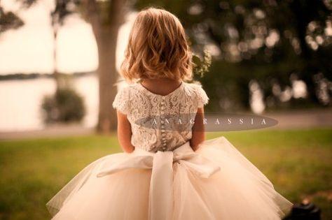 53167aafc5 Gold Ivory White Champagne Cream Ivory Lace Tulle Satin Flower Girl  Communion Dress Skirt