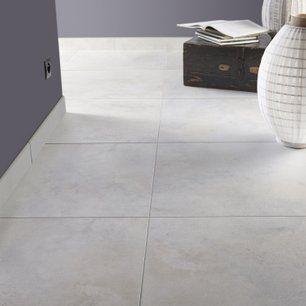 Carrelage Sol Et Mur Blanc Mineral Effet Beton Live L 60 X L 60 Cm
