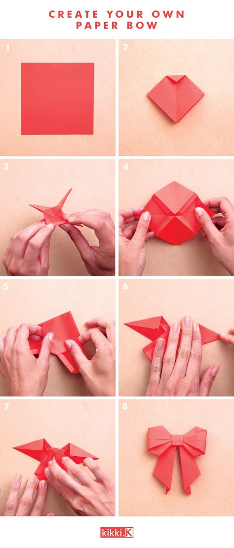 Decorate your gifts with this gorgeous DIY origami paper bow. Click through to see how to make it.