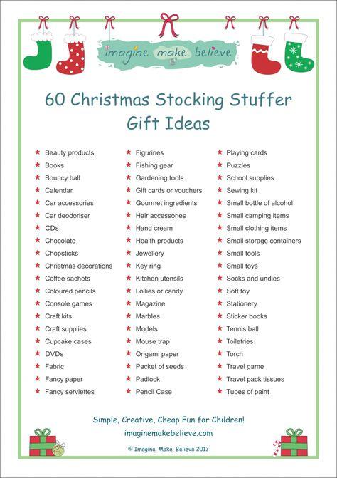 Christmas Stocking Stuffer Ideas - Imagine. Make. Believe, stocking filler, stocking, stuffer, fillers gifts, trinkets, goodies, ideas