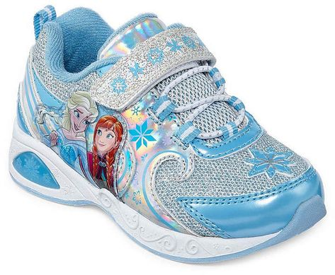 Disney Frozen Elsa Anna LIGHT-UP Shoes sneakers Toddler//Youth 6 7 8 9 10 11 12