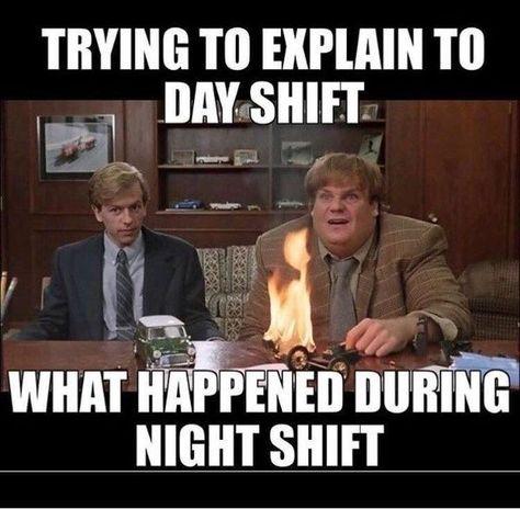 30 Night Shift Memes For Nurses - NurseBuff Night Shift Humor, Night Shift Nurse, Night Shift Quotes, Lab Humor, Pharmacy Humor, Medical Humor, Icu Nurse Humor, Paramedic Humor, Nurse Jokes