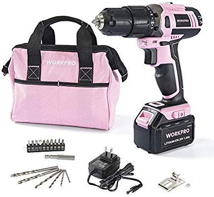 Pink Power PP481 3.6 Volt Cordless Electric Screwdriver Rechargeable Screw Gun