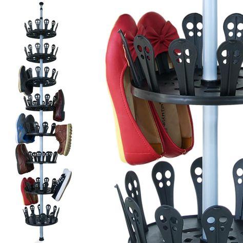 Deuba Xxl Schuhregal Schuhkarussell Fur 96 Schuhe Hohenverstellbar 80 280cm 8 Drehbare Schuhregal Regal Und Eckregal Bad