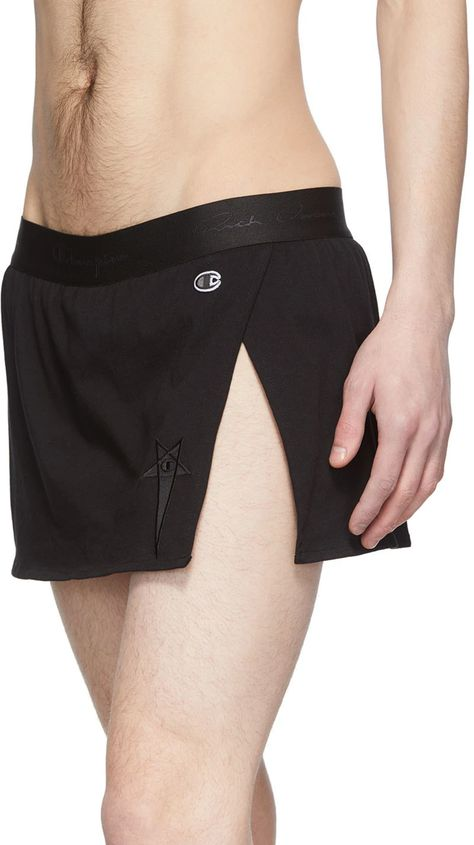 Mens Gym Shorts, Shorts For Men, Rick Owens, Guys In Skirts, Burlesque Outfit, Men Wearing Dresses, Cotton Shorts, Sexy Outfits, Fashion Outfits