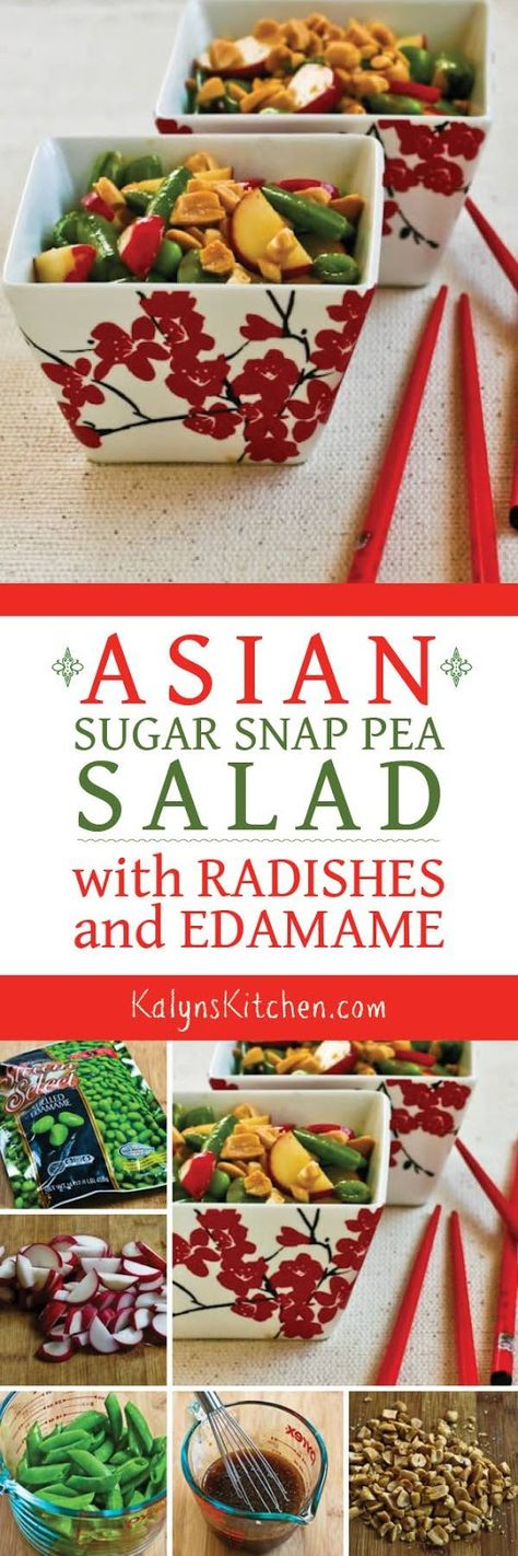 This amazing Asian Sugar Snap Pea Salad with Radishes and Edamame is…