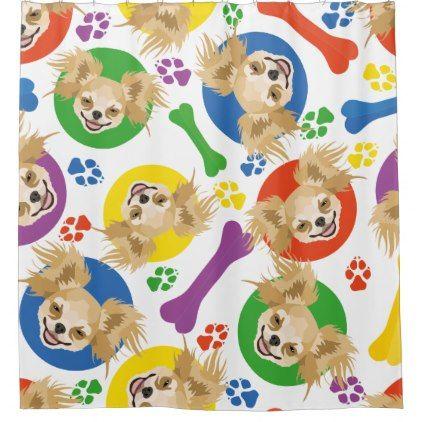 Chihuahua Series Shower Curtains Dean Russo Art Curtains Dean