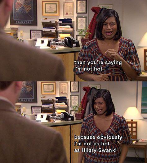 The office hilary swank debate
