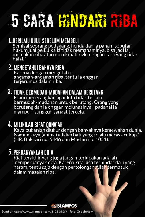 5 Cara Hindari Riba Islamic Quotes Kata Kata Motivasi Kutipan Rohani