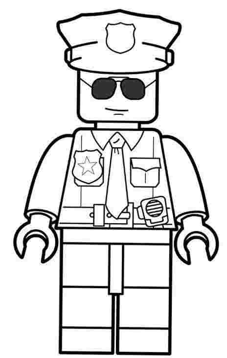 Coloring Pages Lego Police In 2020 Lego Coloring Pages Lego Coloring Lego Police