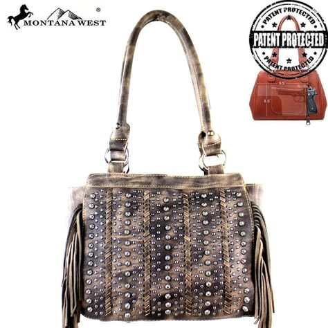 MW376G-8250 Montana West Fringe Collection Concealed Handgun Tote-Coffee  #western #momtanawest #west #handbaloverusa #rustic #rusty #country #purse #countrygirl #cattle #american #cowgirl #texas #texan #USA #cowgirl #cattle #countryside #countrylife #gun #guncarry #aztec