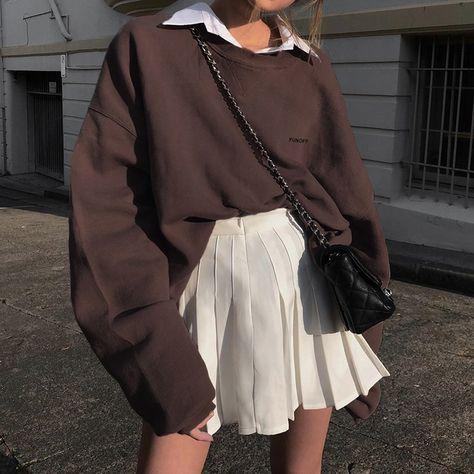 16.99US $ 40% OFF|Rapcopter Brown Sweatshirt Oversized Casual Pullovers Harajuku Sportwear Women Streetwear Y2K Long Sleeve Outfits New Trendy Top|Hoodies & Sweatshirts|   - AliExpress
