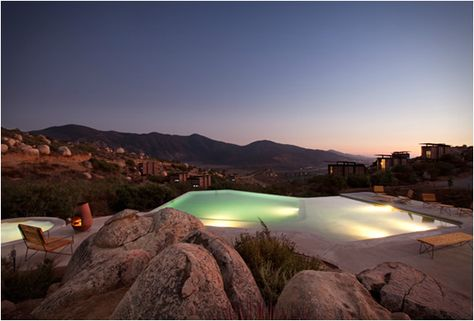 The pool at Hotel Endemico, Valle de Guadalupe (wine country!), Baja California
