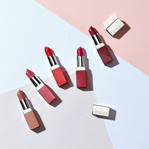 Clinique Pop Lip Colour + Primer in Beige Pop, Kiss Pop, Sweet Pop, Poppy Pop and Love Pop
