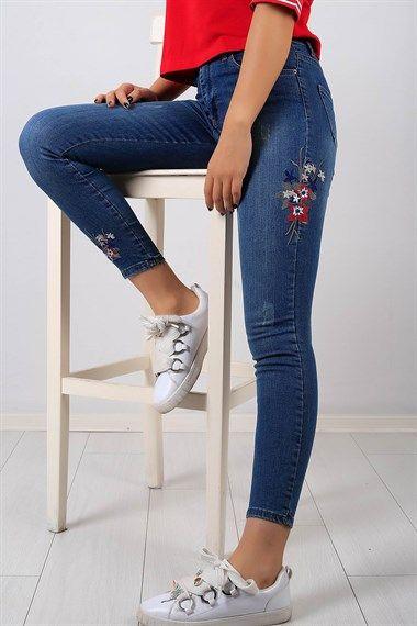 Turkiye Nin En Ucuz Kot Pantolon Modelleri Bu Sitede Cicek Islemeli Bayan Likrali Kot Pantolon 8456b Size Ayri Bi Denim Fashion Moda Stilleri Tasarimci Giyim