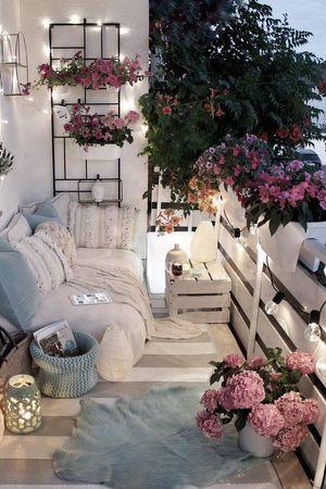 Living Room Garden Patio Furniture Pink Interior Design Dekor Dekorasi Ruang Tamu Ide Dekorasi Rumah