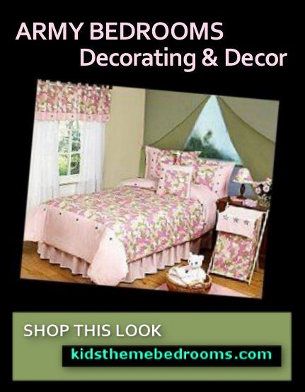 Army theme girls bedroom army girls pink camo bedroom decorating ...