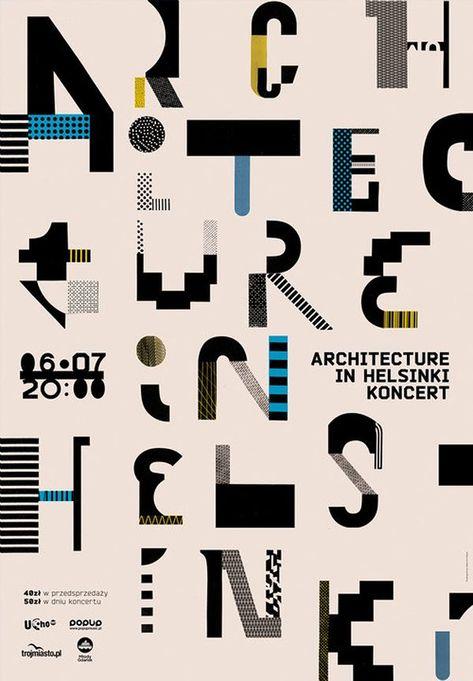 Typographic poster design by Aleksandra Niepsuj