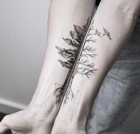 #tattoo #black and white #b&w #tree #dog #flower #rose #girl #boy #mariafernandeztattoo #uls metzger #ahmet cambaz #noipic #couplestattoosbadass