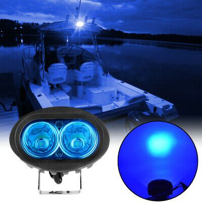 Sponsored Ebay 1pc 12v 20w Blue Marine Boat Spreader Light Led Deck Mast Light Flood Light Marine Boat Flood Lights Led Flood