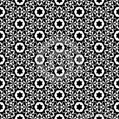 Black And White Abstract Vector Background And Seamless Repeat