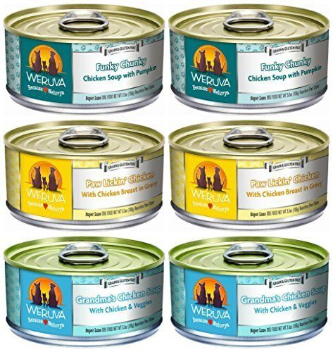 Weruva Grain Free Canned Dog Food 3 Flavor Variety Bundle 5 5 Ounces Each 6 Cans Total By Weruva Review Canned Dog Food Dog Food Recipes Best Dry Dog Food