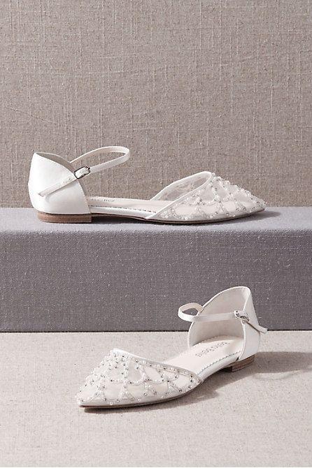 Bella Belle Aella Flats In 2020 Silver Wedding Shoes Ivory Flats