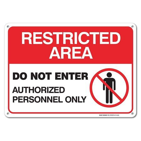 """Authorized Vehicles Only  Sign 12/"""" x 18/"""" Heavy Gauge Aluminum Signs"""