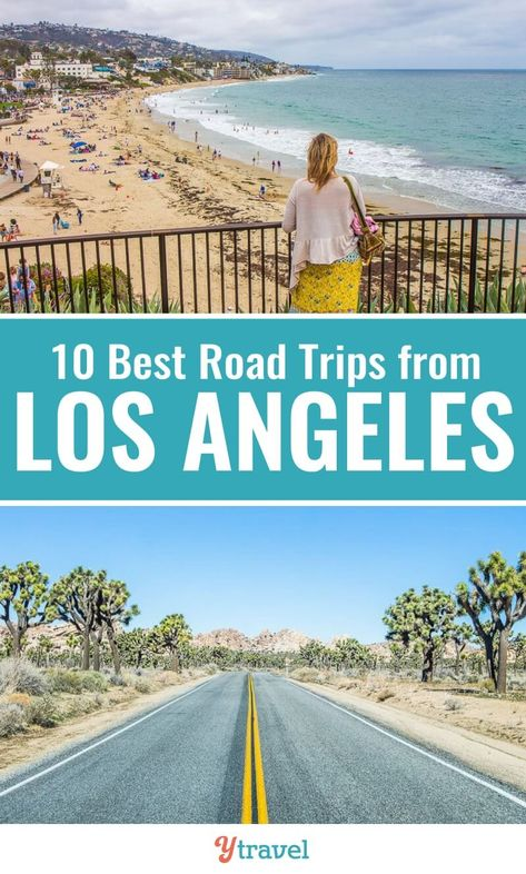 Looking for ideas about road trips from Los Angeles? Check out this list of 10 awesome road trips from LA to fantastic California destinations. Don't visit California before reading these Los Angeles travel tips. #LA #California #LosAngeles #roadtrips #Californiatravel #LosAngelestravel #vacations