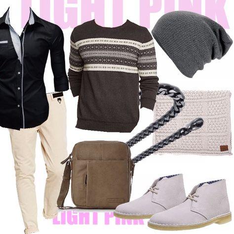 Un outfit casual & easy caratterizzato dai pantaloni rosa chiaro. Camicetta nera al di sotto di un pullover grigio. Le scarpe sono le mitiche Clarks (che ripropongo spesso in quanto sono la mia nuova fissazione ;) ) nella versione in pelle beige, la tracollina molto lineare e pulita, la collana in acciaio inossidabile e sciarpa e cappellino caldi ad accessoriare il tutto.