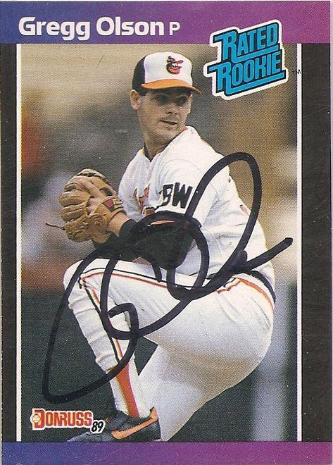 Gregg Olson 1989 Donruss Baseball Cards Baseball Uniforms Baseball