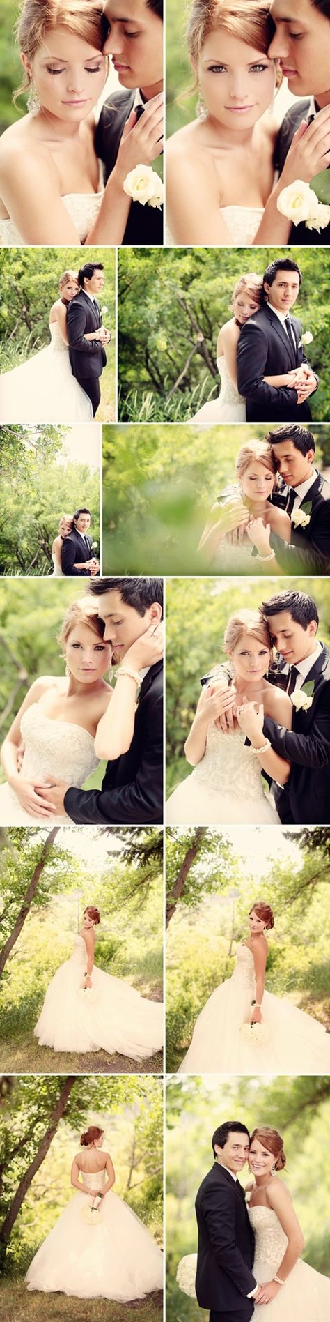 Think about the look you want for your wedding photo's. If you want lush beautiful greenery like in these pics, tell your photographer & so they can scope out locations before your wedding day.