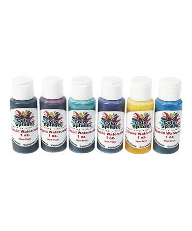 S S Worldwide Color Splash Liquid Watercolor Paint Set Of Six