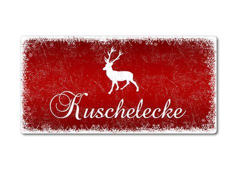 Winterdeko Schneegestöber - Blechschild zum Selbstgestalten 200 x 100 mm rot. Winterdeko und Weihnachtsgrüße in rot - Blechschild Schneegestöber zum Selbstgestalten als