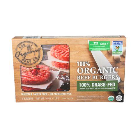 Organic Beef Burgers 16 Oz Organic Meat Co Whole Foods Market In 2020 Organic Beef Beef Burgers Casein Free