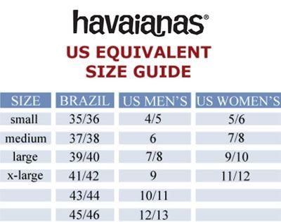 Havaianas Size Chart | Havaianas, Size