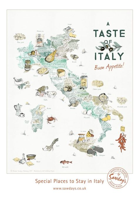 Travel And Trip Infographic An Illustrated Map Of Italy S Regional