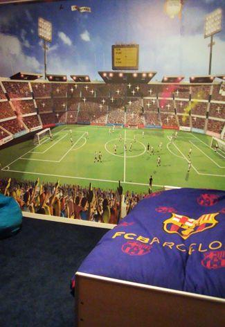 Kinderkamer FC Barcelona   soccer room   Pinterest   Fields ...