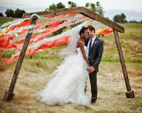 Beautiful moment in front off a brillant backdrop.