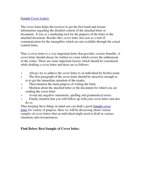 Cover Letter, The Best Cover Letters With This In Preparing Your - best cover letter samples
