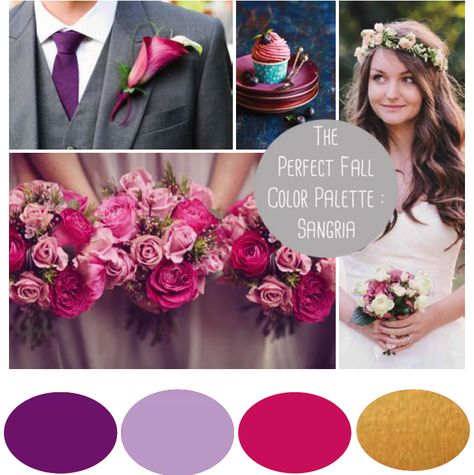 Most Por Fall Wedding Colors Of 2017 Flowers Pinterest Weddings And Sangria Bridesmaid Dresses
