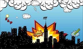 Resultado De Imagem Para Painel Cidade Super Herois Festa De
