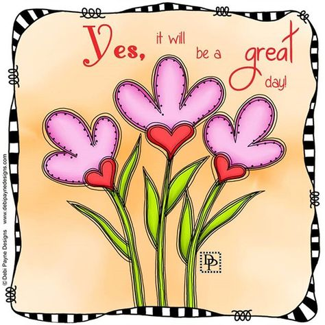 Make it a GREAT day! . . . . . ##affirmation #positiveaffirmations #motivation #positivethoughts #doodleart #doodleflowers #debipaynedesigns