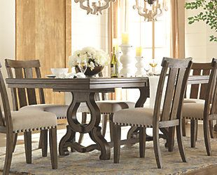 Wendota Dining Room Extension Table Ashley Furniture Homestore Dining Room Table Dining Room Chairs Wall Decor Living Room Rustic