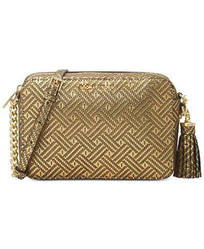 167a10641e Michael Kors Ginny Medium Camera Bag. Created with glitz and glam in mind