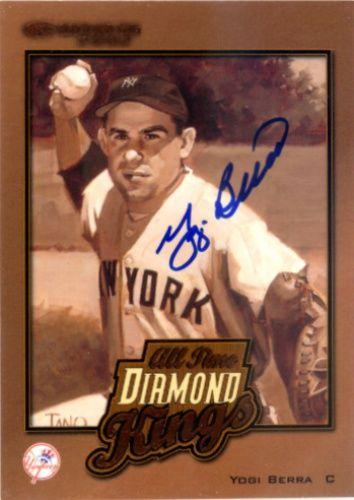 2002 Donruss Yogi Berra Baseball Autographed Trading Card Yogi Berra Baseball Baseball Trading Cards