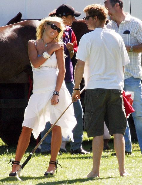 And he also wore matching bracelets with old flame Chelsy Davy, pictured with the Prince, ...