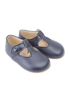 Early Days Alex Navy Leather Pre-Walker