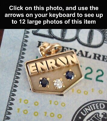 Ad Ebay Url Rare Enron 10k Gold Diamond Saphire Employee Service Award Pendant Cto Tanner In 2020 Today Gold Price Saphire Today Gold Rate