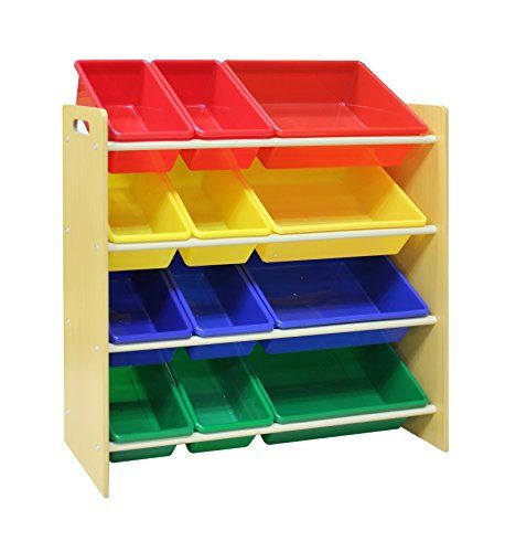 Toy Storage Ideas Pidoko Kids Toy Storage Organizer Wooden